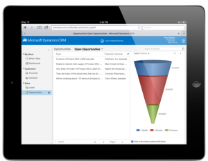 Microsoft Dynamics CRM ja iPad